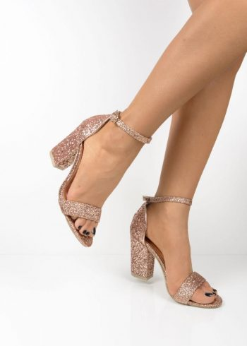 38336c7e8eb 035 Rose Gold glittery block heel sandals