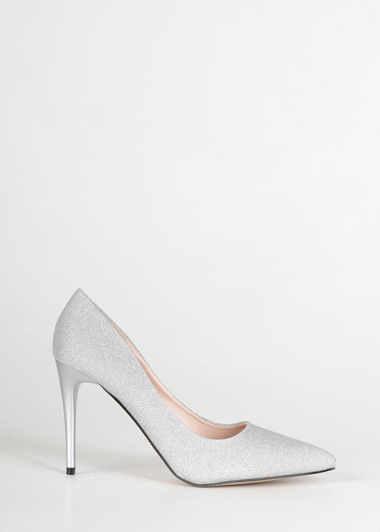 B0105 Silver pointed toe high heels